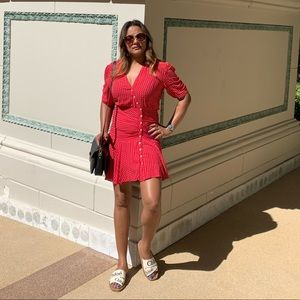 Free people red button dress